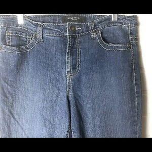 Nine West sz10 capri crop ankle zip jeans S